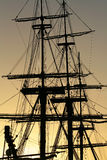 Detail of a vintage sailing ship Stock Images