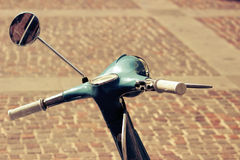 Detail of a vintage scooter Royalty Free Stock Photo