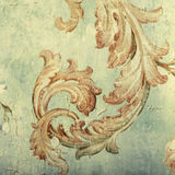 Detail of vintage shabby chic wallpaper Stock Images
