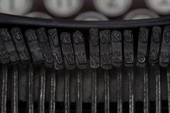 Detail of a Vintage Typewriter Royalty Free Stock Photography