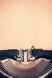Detail of vintage typewriter with blank  paper Royalty Free Stock Photos