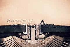 Detail of vintage typewriter with message Stock Image