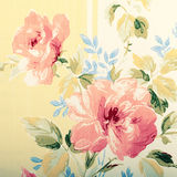 Detail of vintage wallpaper with rose floral victorian pattern. Square toned image Stock Photo