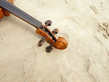 Detail of violin Stock Photography