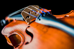 Detail of a violin Stock Images