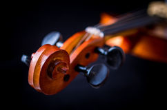 Detail of a violin Stock Photos