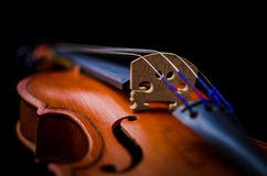 Detail of a violin Royalty Free Stock Photo