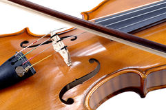 Detail of violin as music instrument Royalty Free Stock Photos