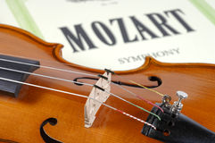 Detail of violin as music instrument Royalty Free Stock Photo