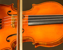 Detail of violin Royalty Free Stock Image