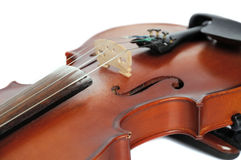 Detail of an  violin Stock Photo