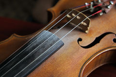 Detail of violin Royalty Free Stock Photography