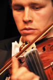 Detail of violinist Royalty Free Stock Photography