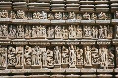 Detail of Vishnavath temple, Khajuraho Royalty Free Stock Image