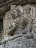 Detail of Vishnu bas-relief carving on wall of Prambanan temple, Indonesia, Java, Yogyakarta Royalty Free Stock Image