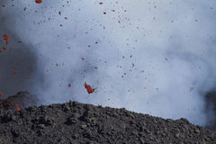 Detail volcanic bombs Royalty Free Stock Photography