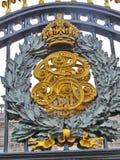 Detail vom vorderen Zaun des Buckingham Palace, London Lizenzfreie Stockfotografie