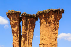 Detail von abgefressenen pilar des Sandsteins Stockfotos