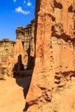 Detail von abgefressenen pilar des Sandsteins Lizenzfreies Stockbild