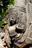 Detail von alten birmanischen buddhistischen Pagoden Stockbild