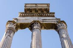 Detail von alten Roman Forum-Säulen Stockbild