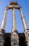 Detail von alten Roman Forum-Säulen Lizenzfreies Stockbild