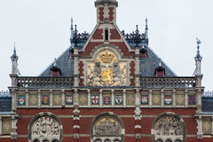 Detail von Amsterdam-Hauptbahnhof Stockbild