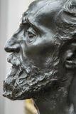 Detail von Auguste Rodins Statue von Jules Dalou lizenzfreies stockfoto
