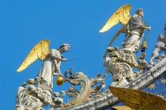 Detail von bassilica in Venedig lizenzfreie stockbilder