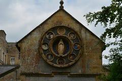Detail von Chideock-Kapelle, Dorset, England, Großbritannien Lizenzfreie Stockfotos