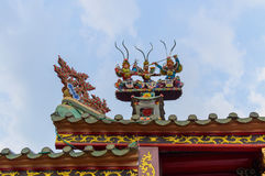 Detail von China-Architektur stockbild