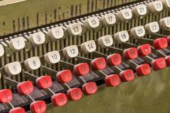 Detail von der alten Lochkartenmaschine Stockbilder