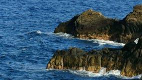Detail von Felsen und von Wellen stock video
