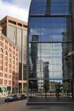 Detail von futuristischen Wolkenkratzern in Denver in USA Lizenzfreie Stockfotos