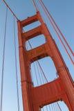 Detail von Golden gate bridge in San Francisco, Kalifornien, Vereinigte Staaten Stockfotografie