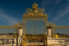 Detail von Golden Gate des Versailles-Palast-Parks stockfotografie