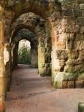 Detail von gotischen Ruinen von Oybin-Kloster in Deutschland Stockbilder