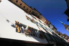 Detail von Häusern in Aarau, die Schweiz Lizenzfreie Stockbilder