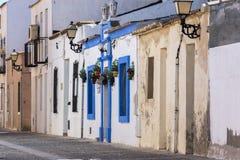 Detail von Häusern auf der Insel von Tabarca lizenzfreie stockfotografie