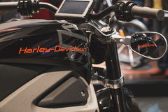 Detail von Harley-Davidson-Motorrad an EICMA 2014 in Mailand, Italien Stockfoto