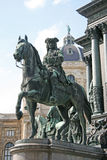 Detail von Maria Theresa-Monument in Maria-Thesienplatz, Wien, Österreich Lizenzfreie Stockfotos