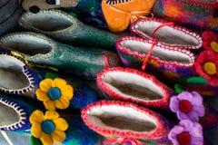 Detail von multi Farbgewebe-Beschaffenheitsproben Lizenzfreie Stockbilder