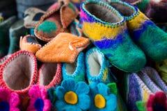 Detail von multi Farbgewebe-Beschaffenheitsproben Lizenzfreie Stockfotografie
