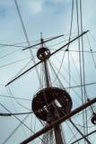 Detail von Neptun Galleon, benutzt von R. Polansky für den Film Pir Stockbild