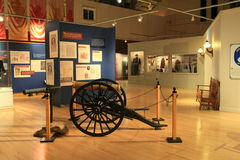 Detail von pädagogischen Ausstellungen, von Staat New York-Militärmuseum und von Veteranen-Forschungszentrum, Saratoga, 2015 Stockfotos