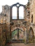 Detail von Ruinen von Schloss und von Kloster Oybin Lizenzfreies Stockfoto