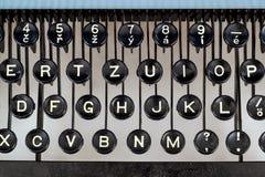 Detail von Schlüsseln auf Retro- typewritter Lizenzfreie Stockfotografie