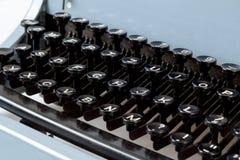 Detail von Schlüsseln auf Retro- typewritter Stockbild