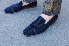 Detail von Schuhen Milan Men-` s an der Mode-Woche Lizenzfreie Stockfotografie