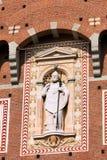 Detail von Sforza-Schloss in Milan Italy Lizenzfreies Stockfoto